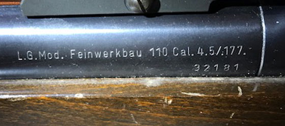 FWB 110 markings