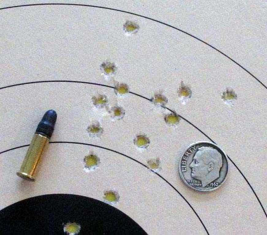 22 long rifle test target
