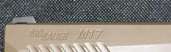 Sig M17 pellet pistol markings