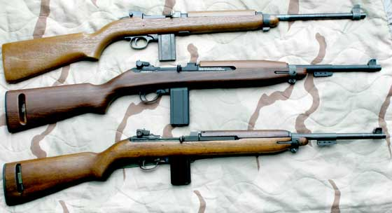 M1 Carbine three carbines