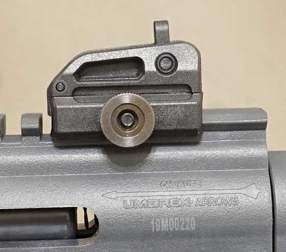 Air Javelin rear sight mounted