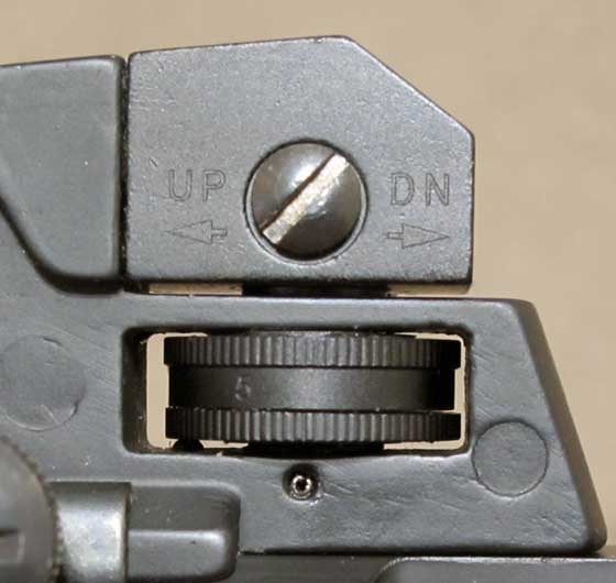 MAR rear sight