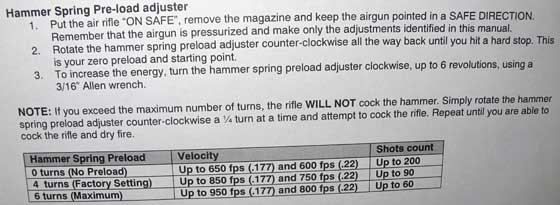 Fortitude power adjust instructions