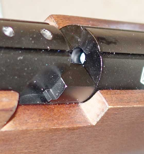 Diana Mauser pellet in receiver