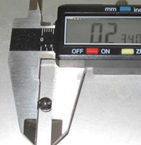 BB RMAC balls measure