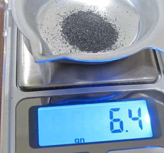 RMAC powder scale