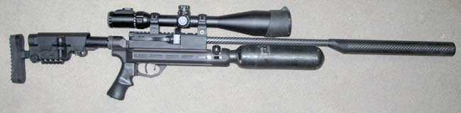 RAW HM1000 scope mounted