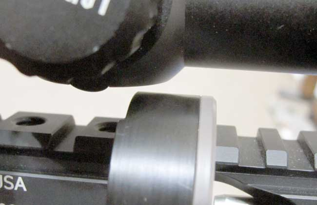RAW HM1000 mounted scope clearance