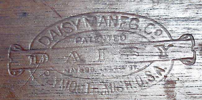 Daisy 20th Century buttstock marks
