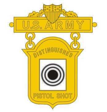 Army Distinguished Pistol Shot badge