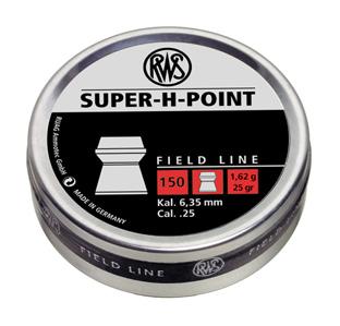 RWS Super-H-Point .25 Cal, 25.0 Grains, Hollowpoint, 150ct