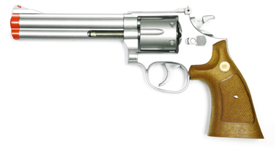 934 UHC 6 inch revolver, Silver/Brown