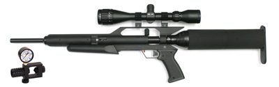 AirForce Talon, Refill Clamp, 3-9x40 Scope, Rings