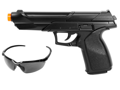 Stunt Police M2020 Airsoft Spring Pistol, Black
