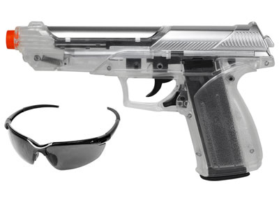 Stunt Police M2020 Airsoft Spring Clear Pistol