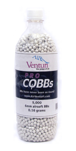 Air Venturi Pro CQBBs 6mm airsoft BBs, 0.16g, 5000 rds, white