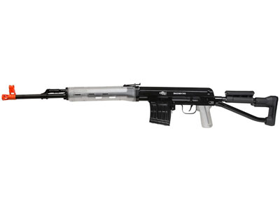 Aftermath Dragunov Airsoft Sniper Rifle, Clear