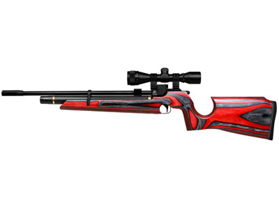 Air Arms S200 Hunter Air Rifle, Red Laminate Stock