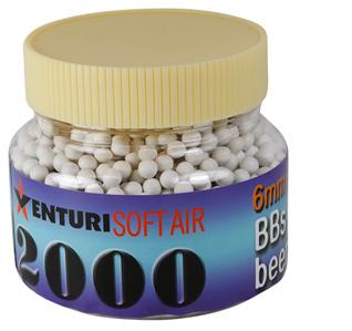 Air Venturi 6mm plastic airsoft BBs, 0.20g, 2000 rds, white