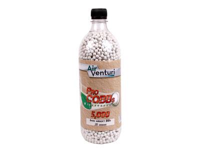 Air Venturi Pro CQBBs 6mm Biodegradable Airsoft BBs, 0.25g, 5,000 Rds, White