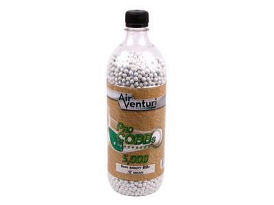 Air Venturi Pro CQBBs 6mm biodegradable airsoft BBs, 0.12g, 5000 rds, white