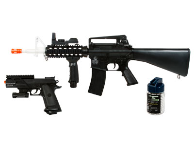 Airsoft M4 + MKIV On Duty Kit