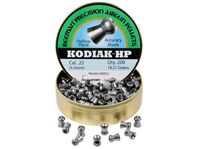 Beeman Kodiak HP .22 Cal, 18.21 Grains, Hollowpoint, 200ct