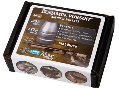 Benjamin Pursuit, .357 Cal, 127 Grains, Flat Nose, 50ct