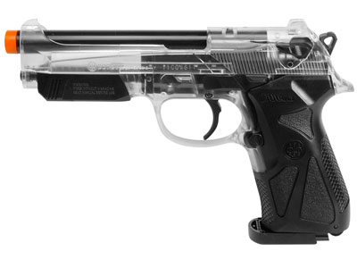 Beretta 90two Spring Airsoft Pistol, Clear