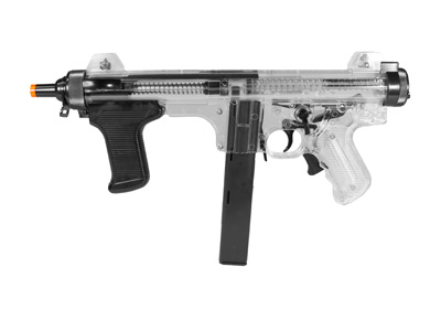 Beretta PM12S Spring Airsoft SMG, Clear
