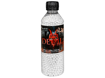 Aftermath Blaster Devil 6mm Airsoft BBs, 0.30g, 3,000 Rds, White