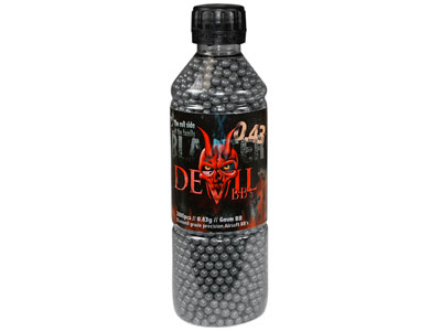 Aftermath Blaster Devil 6mm Airsoft BBs, 0.43g, 3,000 Rds, Gray