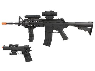 Colt M4 AEG Rifle & M1911 Spring Pistol Kit