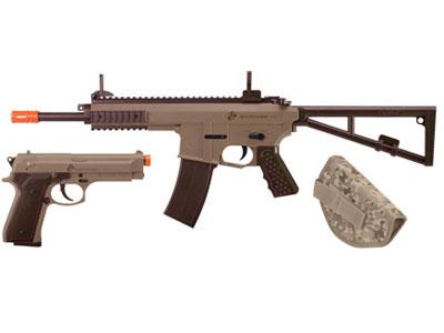 Marines Airsoft Battle Spring Rifle & Pistol Kit