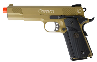 Caspian WE 1911 Gas Pistol, Tan Slide and Frame