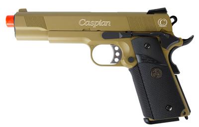 Caspian WE 1911 Gas Pistol, Tan Slide and Frame