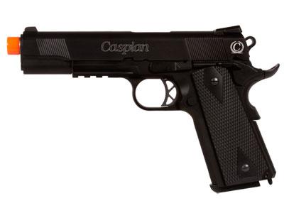 Caspian WE 1911A1 Gas Pistol, Black w/Blk Grips