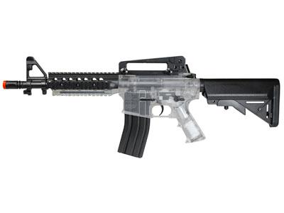 Crosman Pulse DP4 Airsoft Rifle, Clear/Black