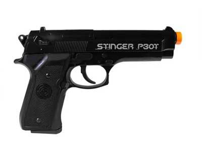 Crosman Stinger P30T Spring Airsoft Pistol, Black