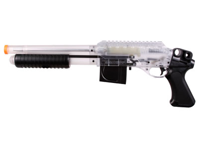 Crosman Stinger S32P Airsoft Shotgun, Clear/Black