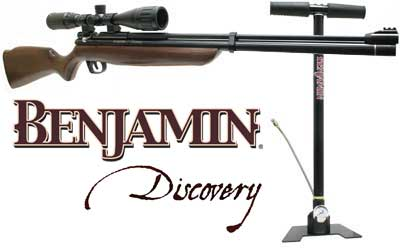 Benjamin Discovery Rifle, Pump & Scope Combo