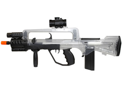 Famas Tactical Spring Airsoft Rifle, Clear