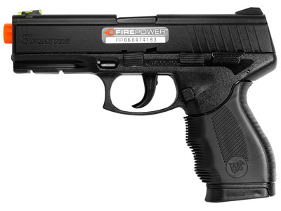 Firepower Interrogator Spring Airsoft Black Pistol