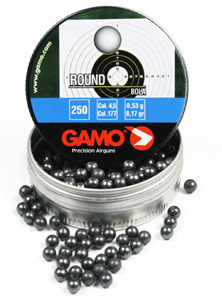 Gamo .177 Cal, 8.2 Grains, Round Lead Balls, 250ct Gamo