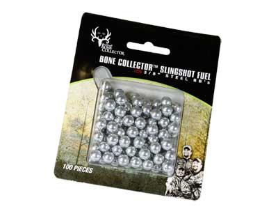 """Bone Collector Kavia Slingshot Fuel, 3/8"""" Steel Slingshot Ammo, 100ct"""