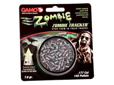 Gamo Zombie Tracker Pellets, .177 Cal, 7.8 Grains, Pointed, 150ct