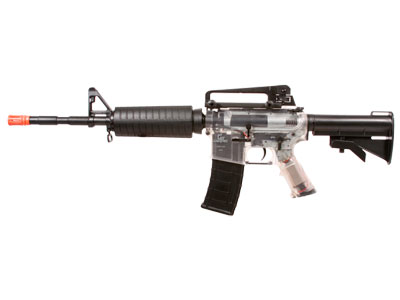 Game Face GFM4 AEG Airsoft Rifle, Clear/Black