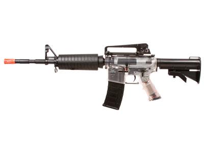 Game Face GFM4 AEG Airsoft Rifle, Clear/Black