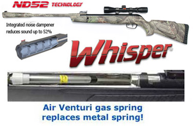 Gamo Whisper CSI Camo w/Gas Spring & Scope