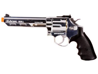 "HFC HG-133 6"" Barrel Gas Revolver, Silver"